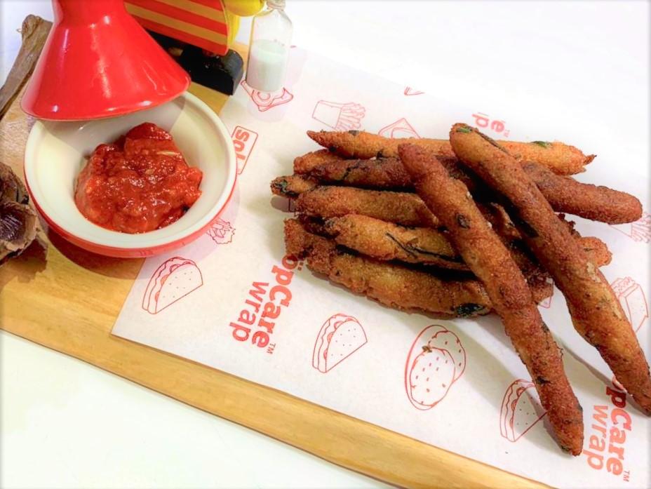Semolina Spinach Fingers