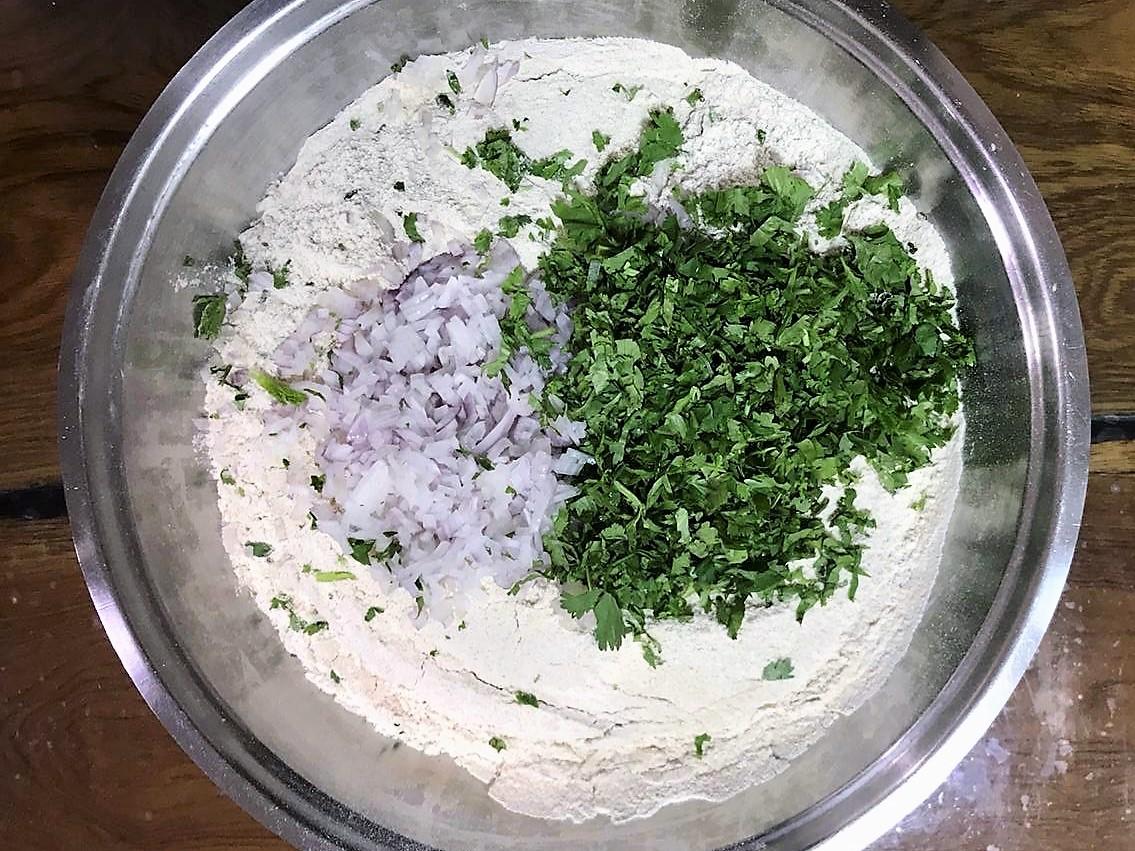 Onion Coriander Tandoori Roti