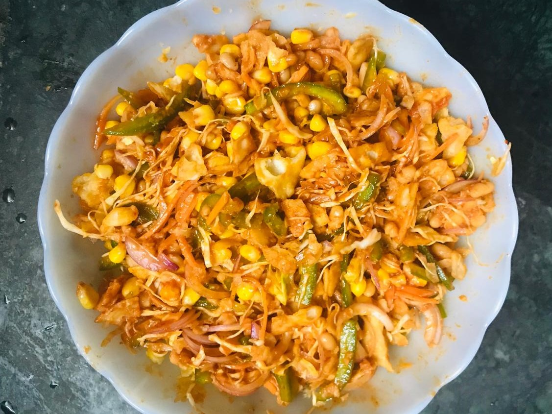 Mexican Bhel for Snacks